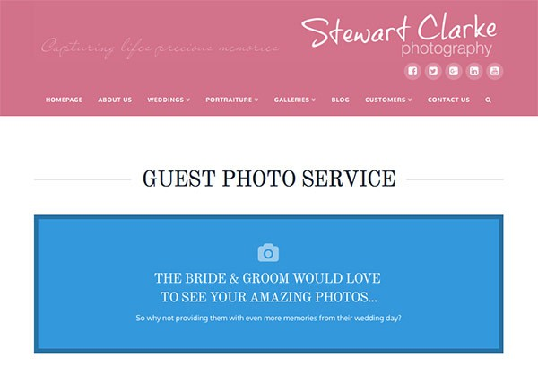 Guest upload service at Stewart Clarke Photography