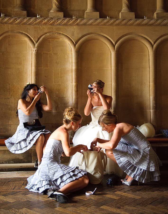 Bristol Cathedral Bridesmaids by Stewart Clarke Photography