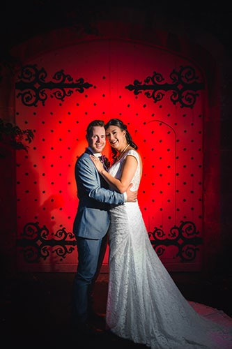 wedding photographers bristol at Thornbury Castle