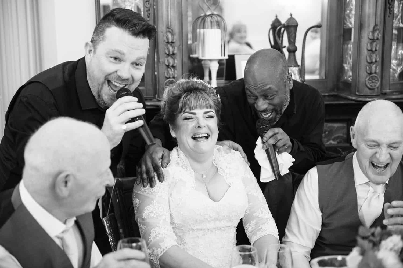 Wedding Photography Singing Waiters at Berwick Lodge