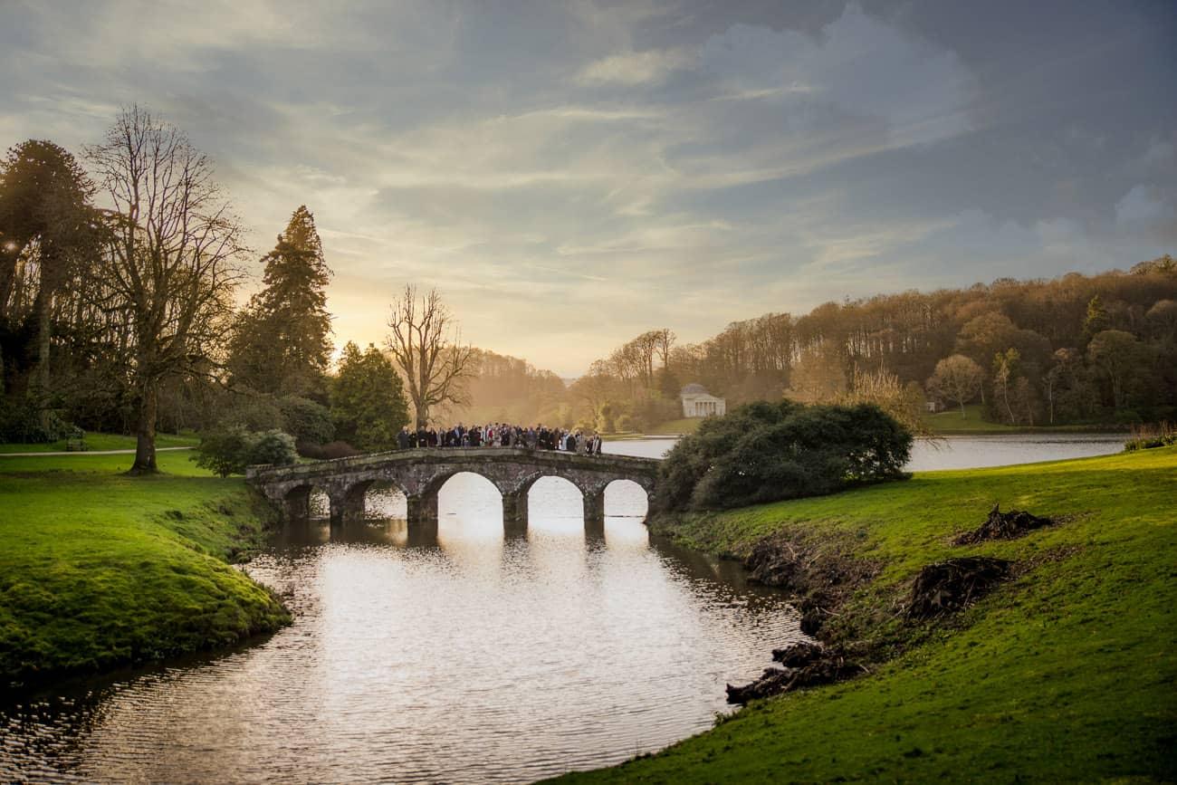 Wedding Photographer Stourhead Palladian Bridge